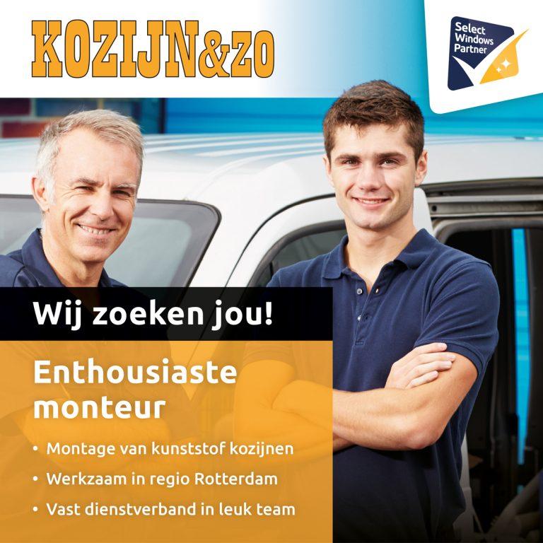Kozijn & Zo Kunststof kozijnen - Kozijn en Zo zoekt Kunststof kozijnen monteur - vacature